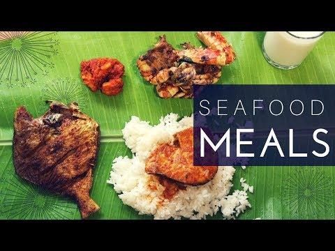 Seafood Meals🐟/Fish kulambhu/Nandu fry/Fish fry/Prawns sambal/Sivakasi Samayal Express 94