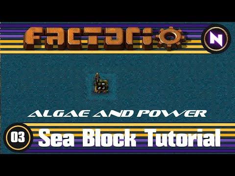 Factorio - Sea Block Tutorial - 03 Algae and Power