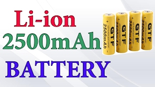 3.7V 14500 2500mAh Li-ion Rechargeable Battery FAKE ФУФЛО