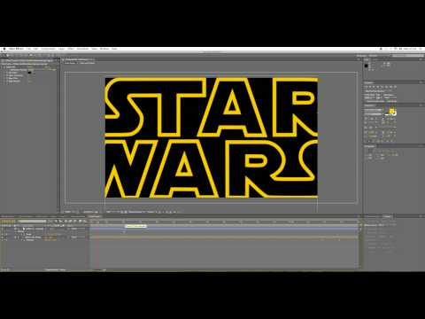 Star Wars Opening Crawl and Planet Tilt - After Effects