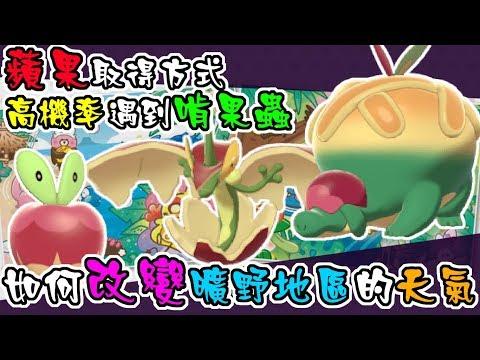 【寶可夢劍盾攻略】啃果蟲進化  酸酸、甜甜蘋果取得方式  控制氣候的神技【真小林的 遊戲實況精華】