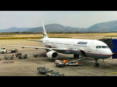 AEGEAN AIRLINES: Greece's wonderful airline, Business Class: Airbus A321, London to Athens