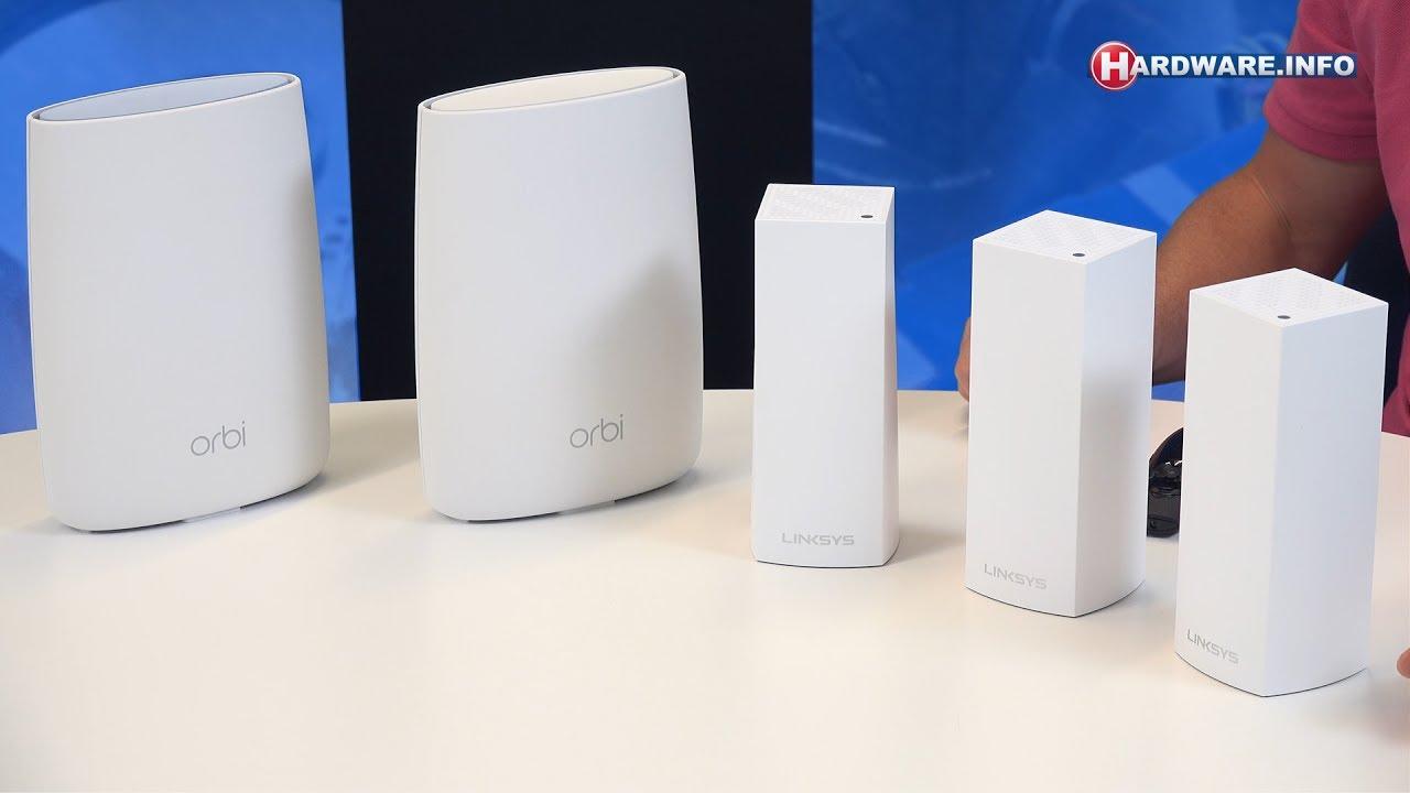 Netgear Orbi vs Linksys Velop mesh netwerk router review - Hardware Info TV  (4K UHD)