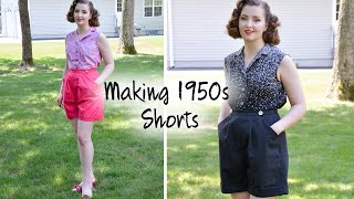 Making 1950s Style SHORTS! : Chatty Sewing Vlog