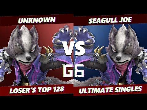 Glitch 6 SSBU - HQ | Unknown (Wolf) VS Demise | Seagull Joe (Wolf) Smash Ultimate Loser's Top 48