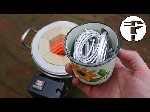 Печь для плавки алюминия своими руками видео