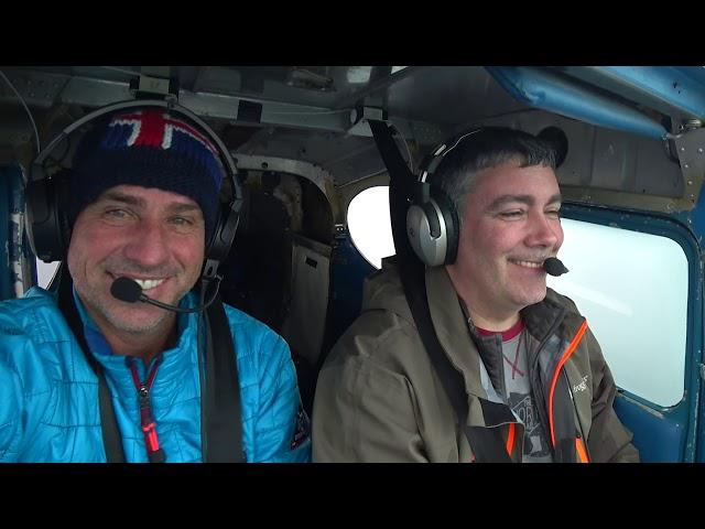 Alaska wilderness flying - practicing spot landings.