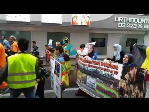 BRuxelles: Duizenden Riffijnse belgen domonstreren in Brussel tegen onrecht in de Rif