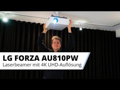 LG Forza LG CineBeam AU810PW 4K Laser Beamer - Der große Bruder des LG Forte