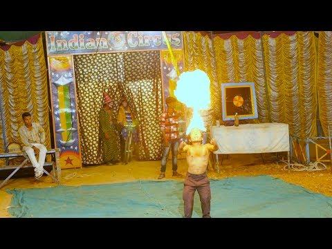 Indian Circus Little Dwarf Man Showing Fire Show | Tingu master ka aag ka khel