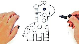 Cómo dibujar un Jirafa paso a paso y fácil | Aprender a Dibujar