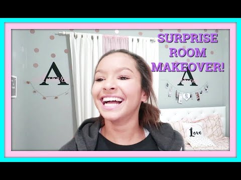 ROOM MAKEOVER FOR TEENS!   SURPRISE BEDROOM TOUR