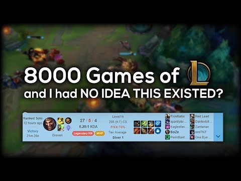 I've Played 8000 Games Of League And Had No Idea This Was In The Game
