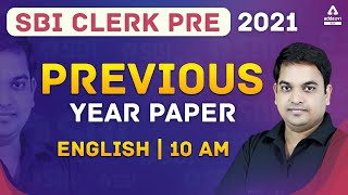 SBI Clerk 2021 | Previous Year Question Paper | English