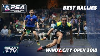 Squash: Best Rallies from Windy City Open 2018