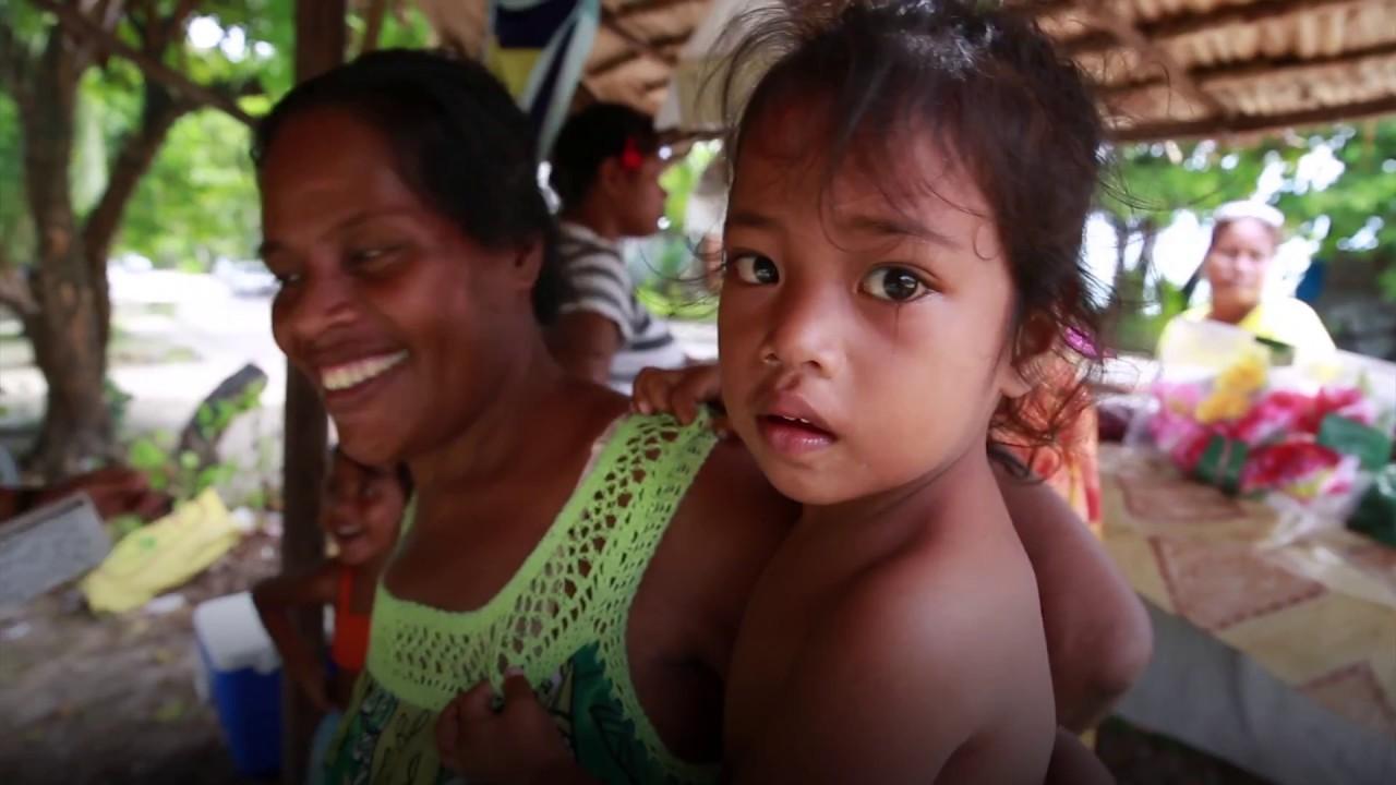 On the Road in Kiribati