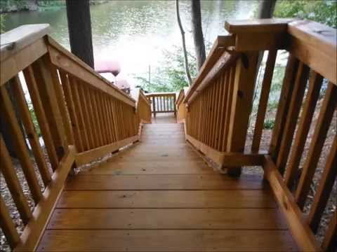 Deck sealing and staining