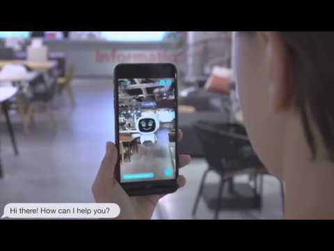 Augmented Reality Navigation & AI Chatbot - GuideBOT
