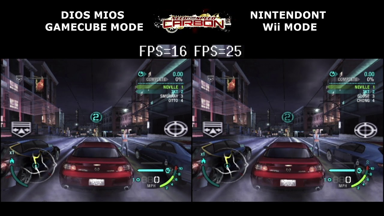 Dios Mios Vs Nintendont Gamecube Games On Wii Frame Rate Youtube