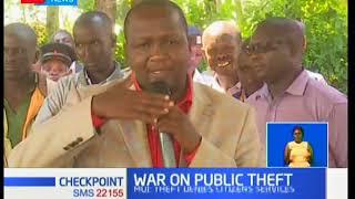 Gideon Moi supports President Kenyatta's war on public theft