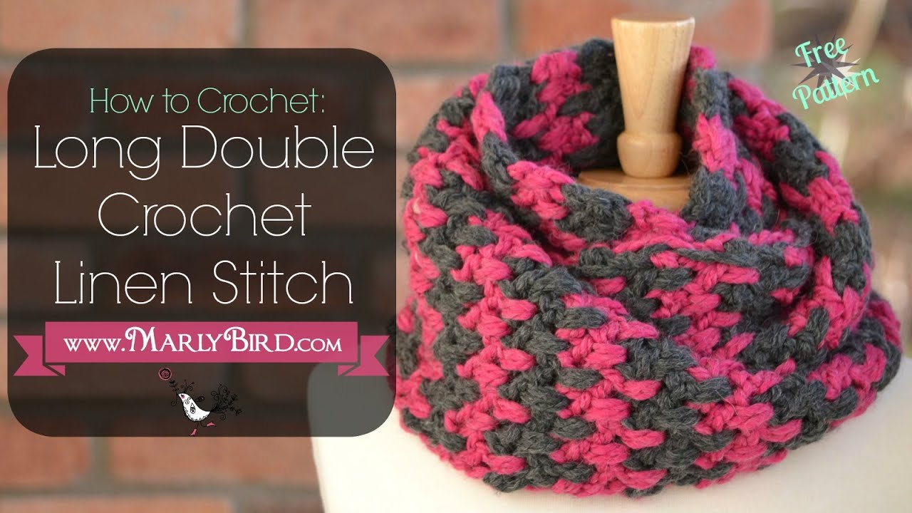 Crochet Stitches Long Treble : How to Crochet Long Double Crochet Linen Stitch - YouTube