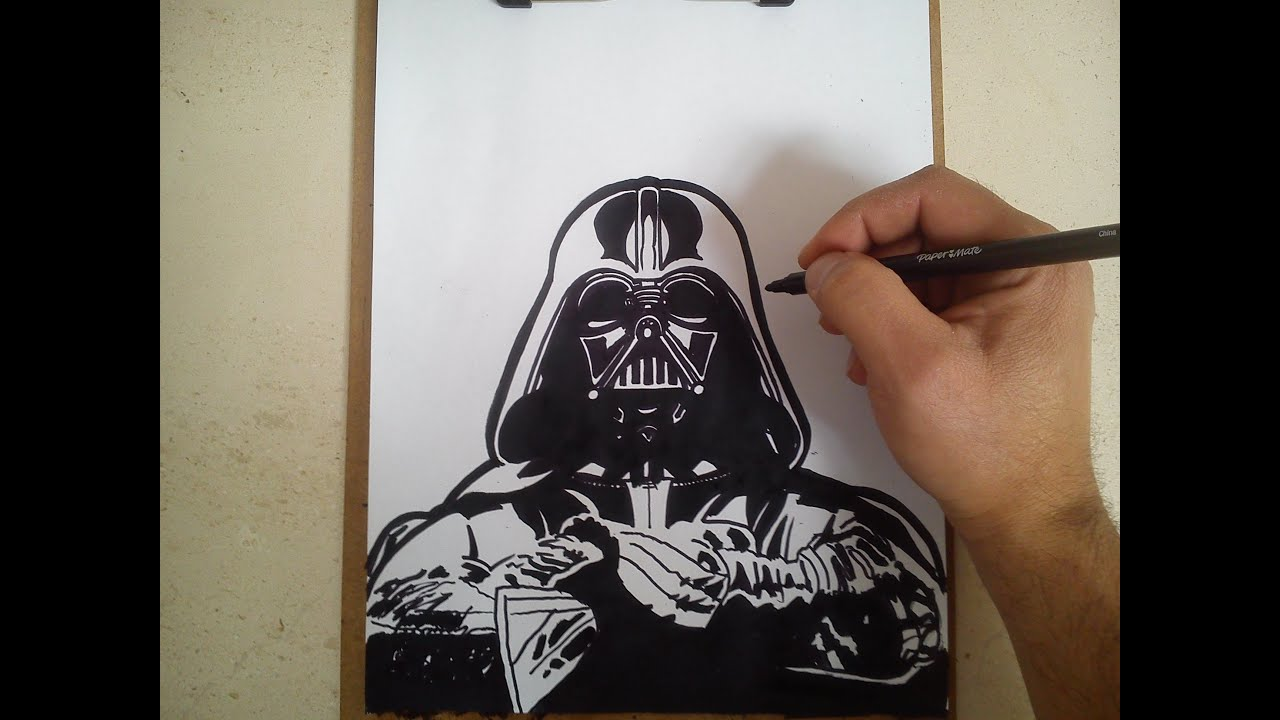 Como dibujar a darth vader - star wars / HOW TO DRAW A ... Darth Vader Tattoo