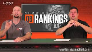 2018 Fantasy Football Quarterback QB Tiers and Rankings