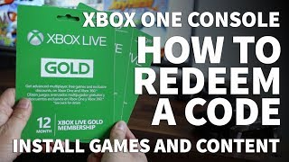 How to Redeem Codes on Xbox One – Redeem Xbox Gift Card and Activate Xbox Live Gold Subscription