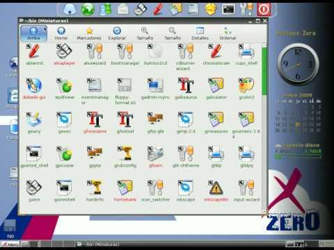 Molinux Zero - Crear o borrar iconos en el escritorio