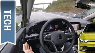 Neuer (& besserer) Travel Assist im Golf 8: Teilautomatisiertes Fahren & Assistenzsysteme im Test