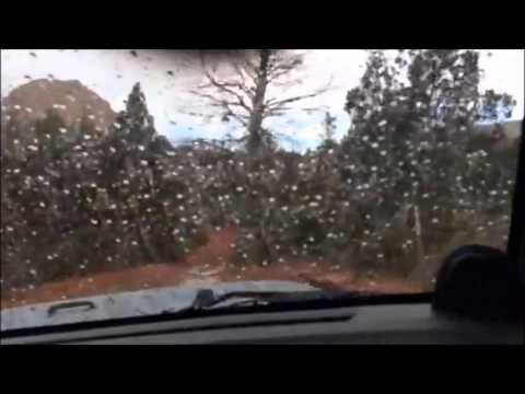 Quick Rain Storm Cell over Broken Arrow Trail