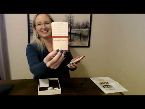 ASMR | New Library Book Show & Tell / Adding Check-Out Sleeves (Soft Spoken)