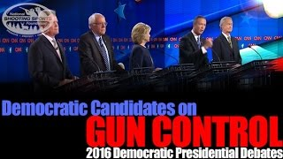 Presidential Candidates Talk Gun Control at the First Democratic Debate, 2016 - #GUNVOTE