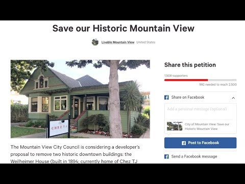 Night story - Help us save local history - Mountain view, CA development