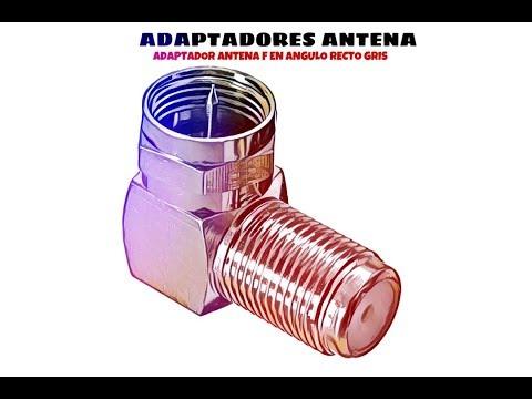 Video de Adaptador antena F en angulo recto  Gris