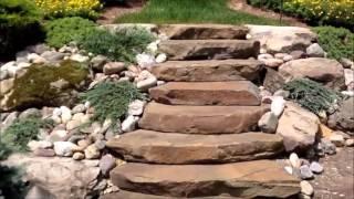 видео природный камень для ландшафтного дизайна