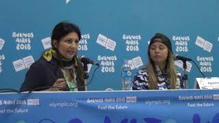 Buenos Aires 2018: Agustina Roth, Sol Ordas, Christophe Dubi, conferencia de prensa parte 1