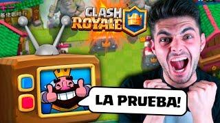 ¡¡HAGO LA PRUEBA OFICIAL DE CLASH ROYALE Y TRABAJO CON ELLOS!!