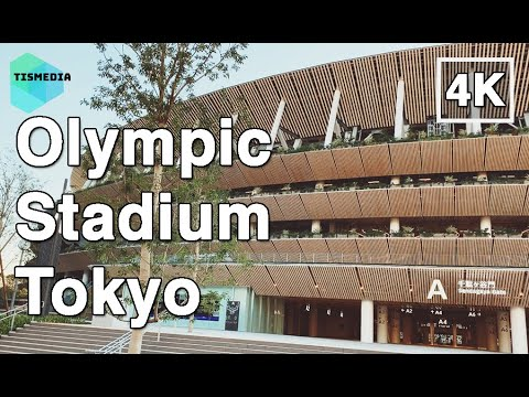 🇯🇵🗼walking-around-new-olympic-stadium-tokyo-on-november-2019-(construction-going-on-yet)【4k】japan