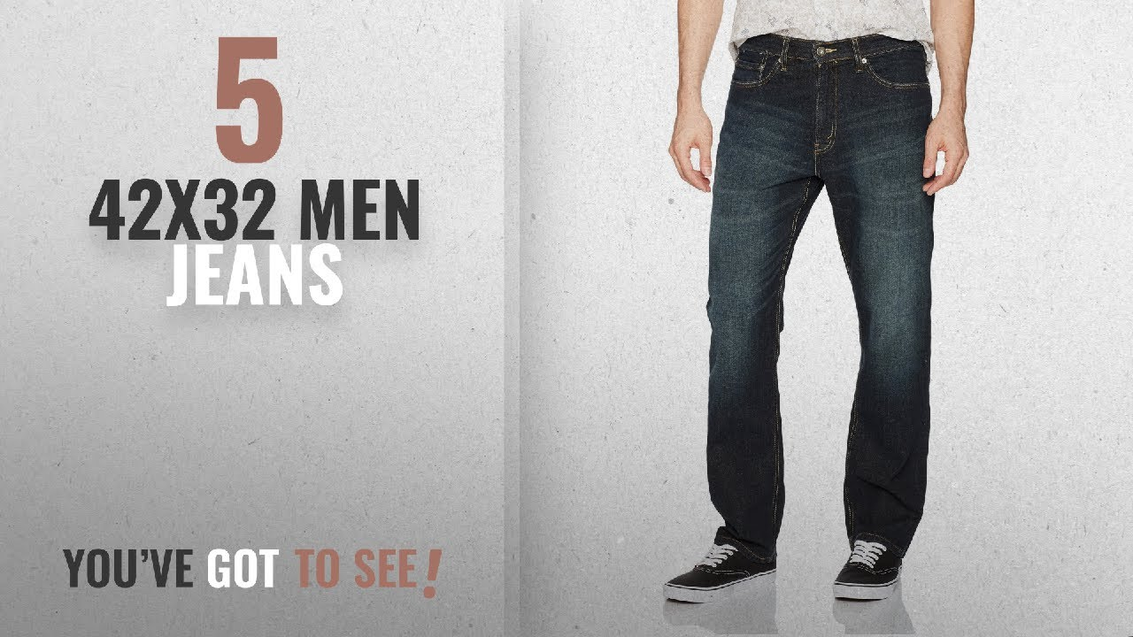 1260b391 Top 10 42X32 Men Jeans [ Winter 2018 ]: Signature by Levi Strauss & Co.  Gold Label Men's Athletic
