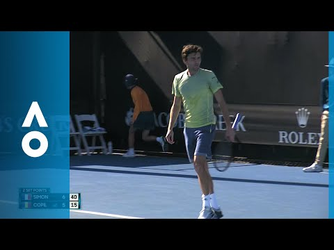 Gilles Simon v Marius Copil match highlights (1R) | Australian Open 2018