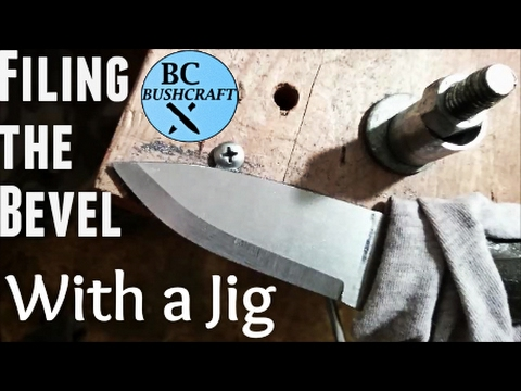 Knife Making: Filing the Bevel w/ Filing Jig