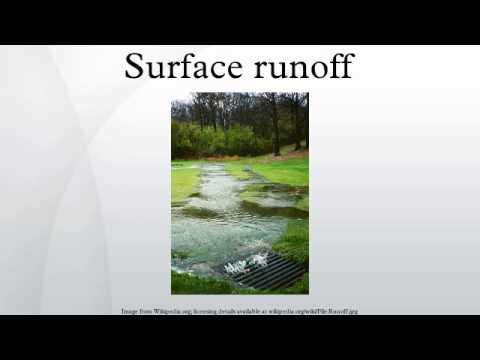 Surface runoff