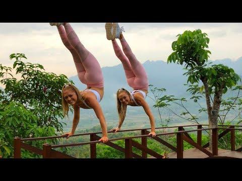 ACRO/Gymnastics at sunrise in Wonderful Indonesia