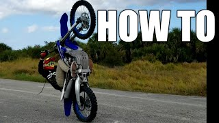HOW TO: coaster wheelie and one hand wheelie | braap  vlogs motobroo zachgoes walteriffic
