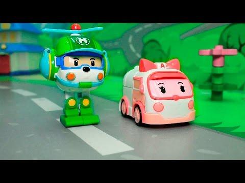 Мультфильм робокар поли и его друзья игрушки