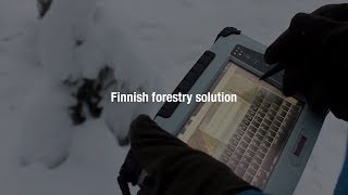 The Handheld ALGIZ 7 ultra-rugged tablet in Finnish Forestry solution
