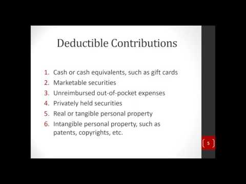 How to Handle Charitable Contributions