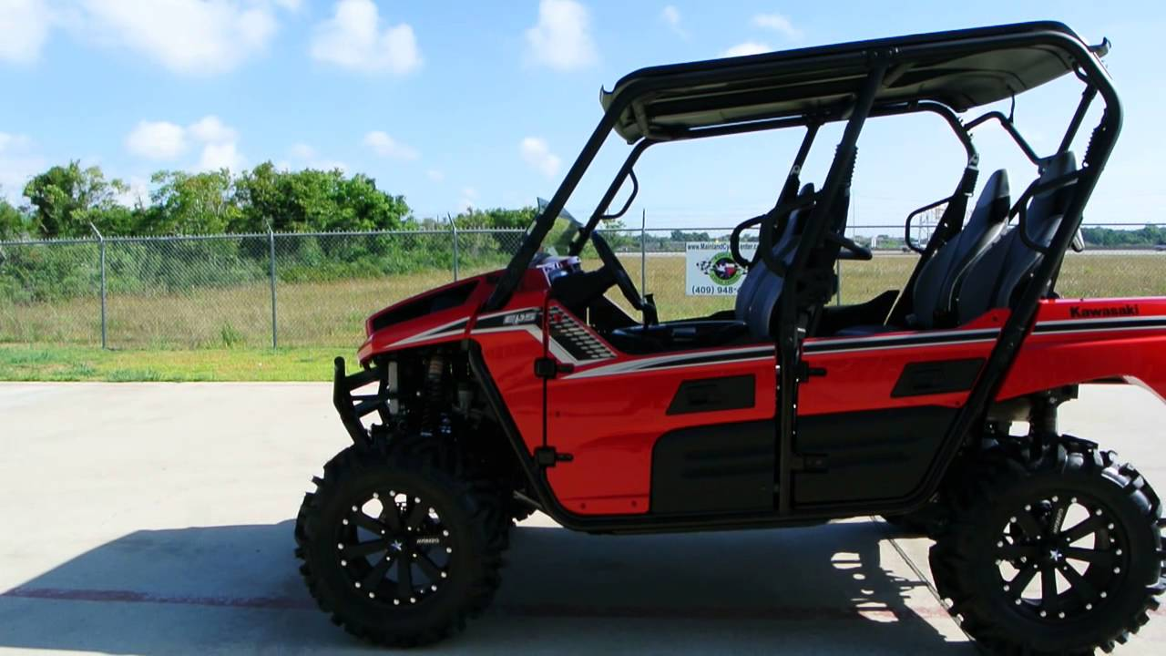 """2013 teryx4 red le with 16 inch msa m20 kore wheels and 30"""" moto"""