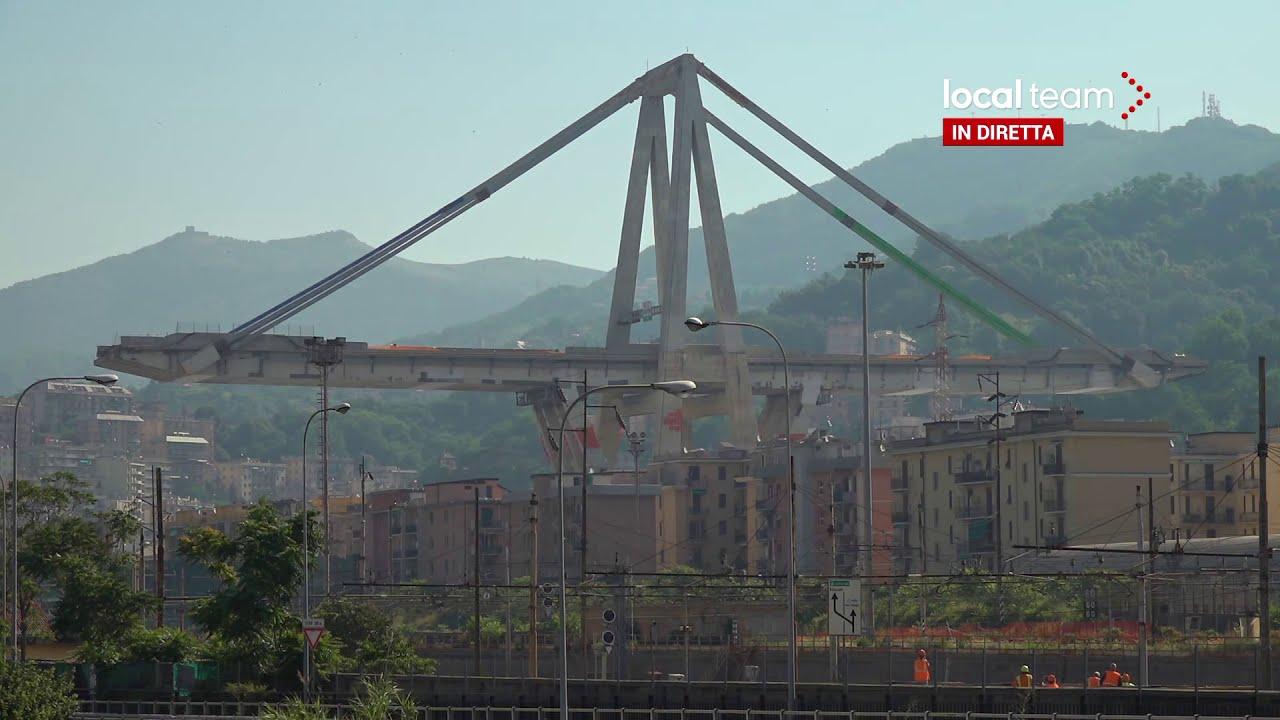 LIVE Demolizione Ponte Morandi, telecamera 2